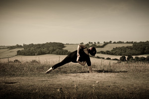 Yoga Aylesbury Warrior Bind Sepia